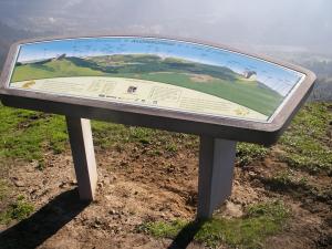 Mahai panoramikoa Sasiburu mendian, behean Alonsotegi herria