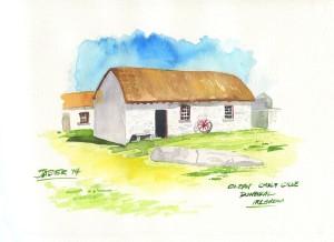 cottage en la costa de Donegal. Poblado de glean chol cille