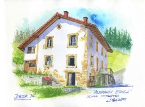 La casa donde nacio el escritor y lingüista Gerhard Bärh, en el alto de Udana, Legazpia.